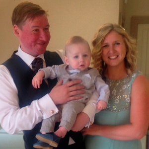 Stephen and Laura Leyland with son Harry