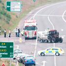 The scene of the crash on the A4 outside Dungannon