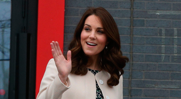 The Duchess of Cambridge arrives to watch wheelchair basketball during a SportsAid event at the Copper Box in the Olympic Park, London, yesterday