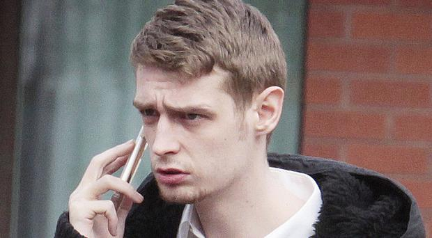 Curtis Neill leaving Coleraine Magistrates' Court yesterday