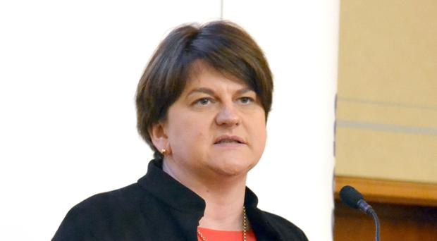 Arlene Foster speaks at the DUP's spring conference (DUP)