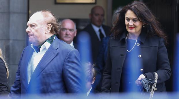 Van Morrison and now ex-wife Michelle Rocca at his mother Violet's funeral