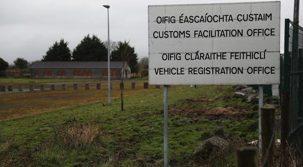 An abandoned customs facilitation office at the border between the Republic of Ireland and Northern Ireland near the village of Killeen (Brian Lawless/PA)