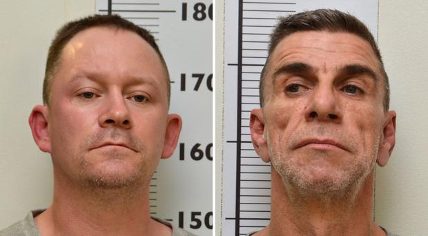 Stephen Unwin (left) and William McFall who were convicted at Newcastle Crown Court of murdering Quyen Ngoc Nguyen (Northumbria Police/PA)