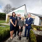 Tara Boyle, Macmillan Health and Wellbeing Campus manager; Niall Birthistle, chairman, Western Health & Social Care Trust; Paula Kealey, Macmillan Strategic Partnership manager and actor Adrian Dunbar, guest speaker at the opening