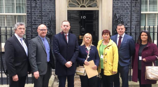Sinn Fein MLA Emma Rogan led a delegation of family members to Downing Street along with party MPs Mickey Brady, Chris Hazzard and Paul Maskey