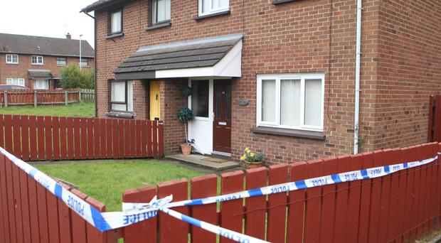 The house in Dill Avenue, Lurgan, where Dolores McKavanagh was found dead on Tuesday