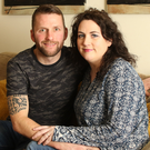 Dungannon Swifts stalwart Terry Fitzpatrick with wife Rosanne at their home