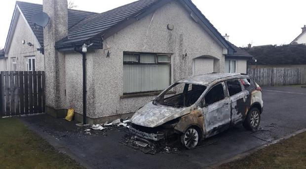 Torched car