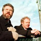 Gerry Adams and Martin McGuinness during a break from negotiations in 1998