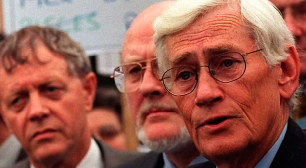 The SDLP's Seamus Mallon and party colleagues in 1998