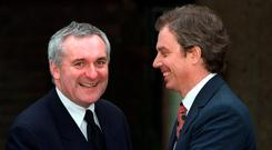 Bertie Ahern with Tony Blair