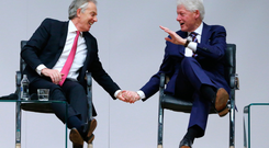 Tony Blair and Bill Clinton