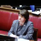DUP leader Arlene Foster during the Renewable Heat Incentive public inquiry at Stormont Parliament Buildings (Niall Carson/PA)