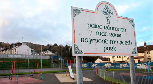 The Raymond McCreesh play park at the heart of the controversy