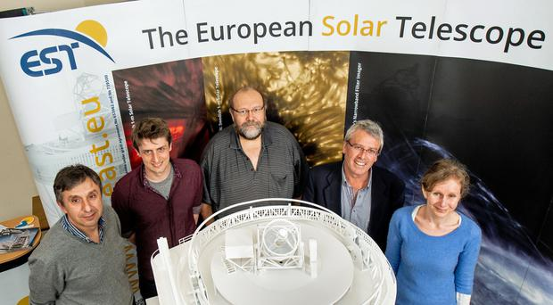 A replica of the new European Solar Telescope which is to begin observations in a decade (Queen's University/PA)