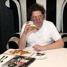 Marco Pierre White has his first taste of soda and potato bread at his restaurant at the Park Avenue Hotel, Belfast where he was signing copies of his new book