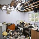 Considerable damage was caused to the home of Lisa Dorrian family