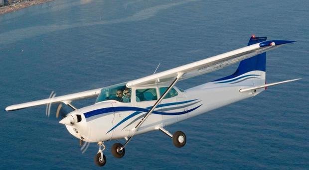 A Cessna light aircraft similar to the one which crashed