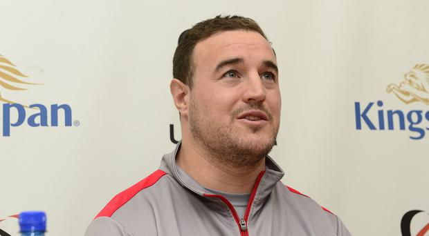 Ulster Rugby's Rob Herring during Tuesday's Kingspan press conference