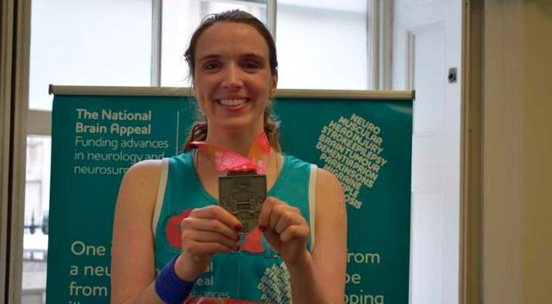 Cliodhna McCorley with her London Marathon medal