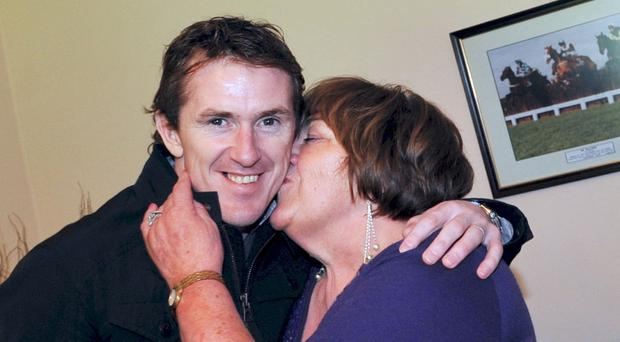 Tony McCoy with mother Claire