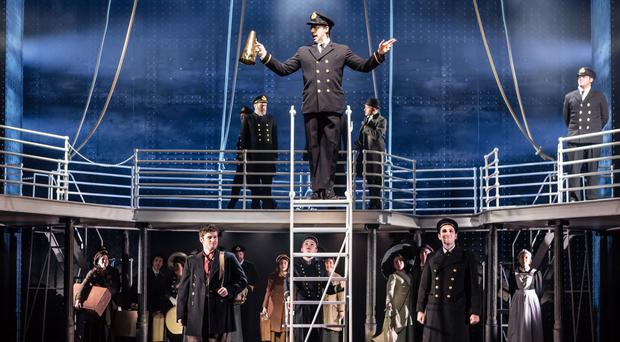 The cast of Titanic The Musical on stage