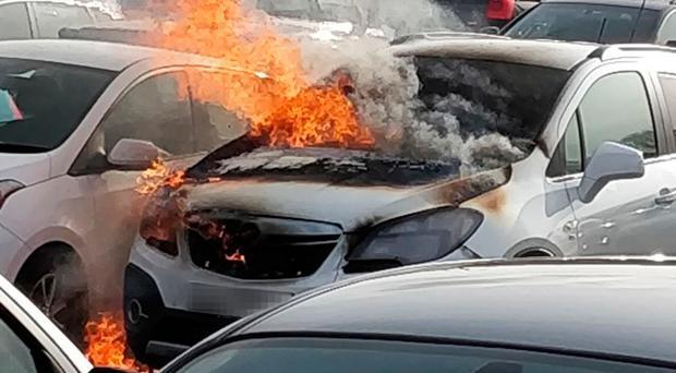 Tracy Whan-White's Vauxhall Mokka 4x4 caught fire in Dundonald while she and her son were at the cinema