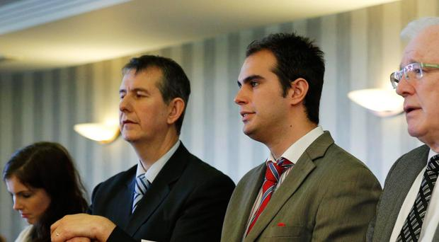 Edwin Poots and his councillor son, Luke, have denied any wrongdoing