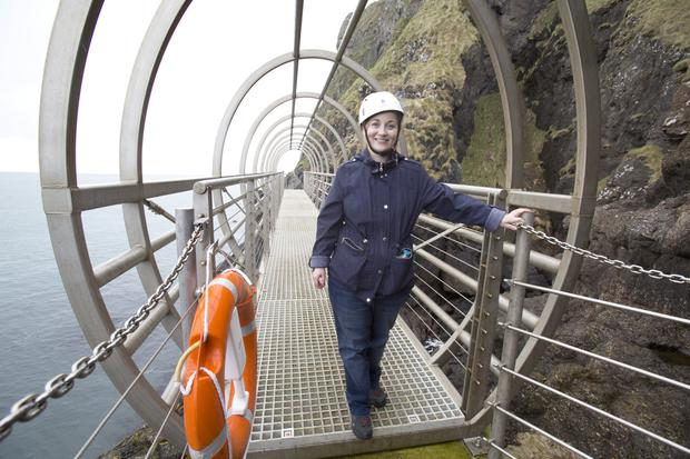 Victoria Leonard at the Gobbins media day prior to tomorrow's reopening