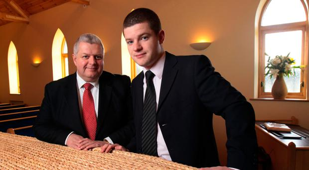 Funeral directors Ian Milne and son Stuart