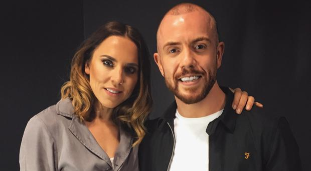 Conleth Kane with Mel C backstage at her Belfast gig last year