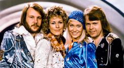 Abba from left: Benny Andersson, Anni-Frid Lyngstad, Agnetha Faltskog and Bjorn Ulvaeus