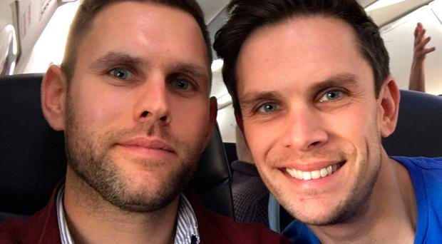 Stuart Hill (left) and his brother Jason died in a helicopter crash