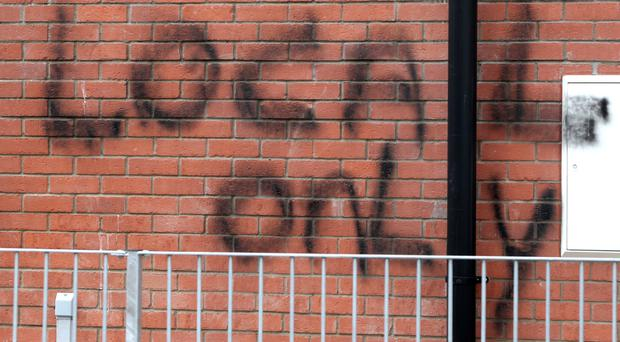 The graffiti at Woodlee Court in east Belfast