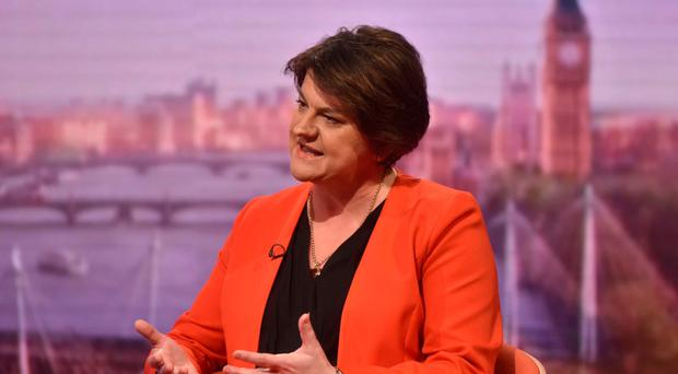 Arlene Foster is interviewed by Andrew Marr yesterday