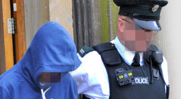 The 17- year-old accused at court yesterday