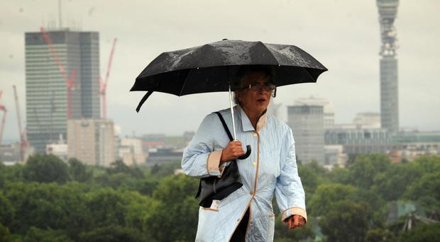 'A cooler, wetter front is pushing in from the west, meaning the coming days are likely to be chillier' (stock photo)