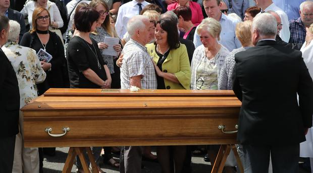 Seamus Ruddy's funeral in Newry Co Armagh (Niall Carson/PA)