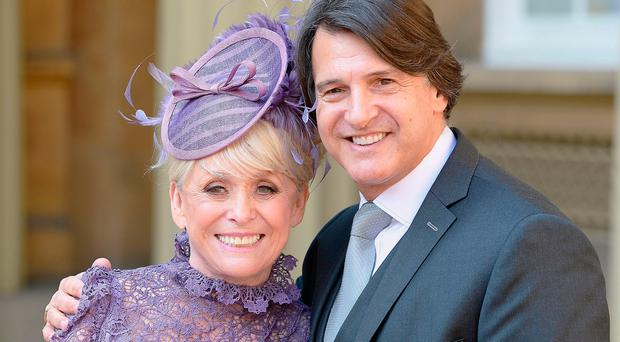 Dame Barbara Windsor and her husband Scott Mitchell, who announced that his wife has Alzheimer's