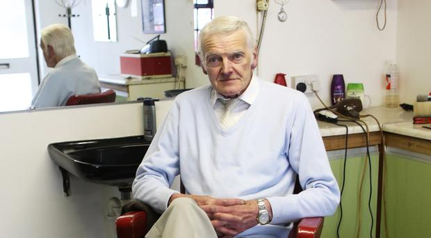 Colin McArdle is hanging up his scissors after four decades as a hairdresser