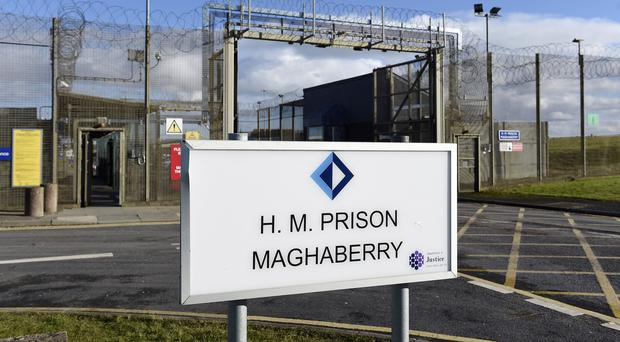 Haggarty left Maghaberry Prison (Michael Cooper/PA)