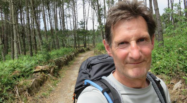 Dermot Breen on the Camino trail