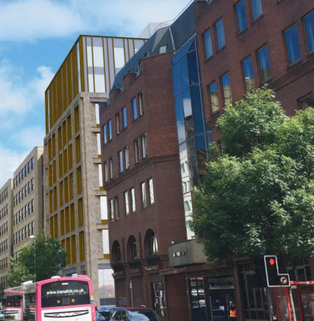 The proposed office block for Upper Queen Street