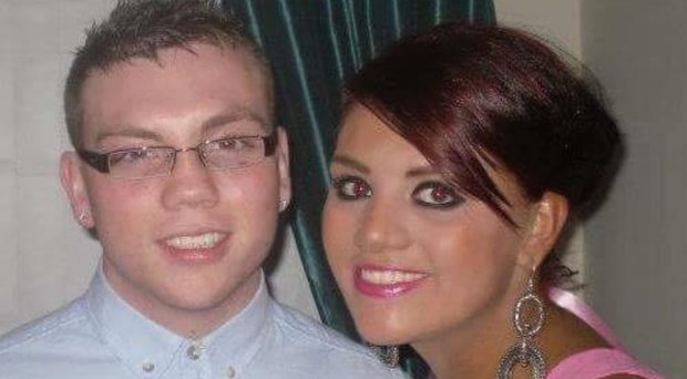 Stabbing victim Eamonn Magee Jnr with his sister Aine