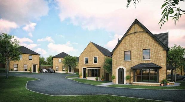 An artist's impression of the new homes in Comber