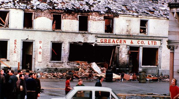 The aftermath of the Monaghan bombing