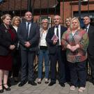 Members of the Cavanagh family on the final day of the inquest into the death of Brigid Cavanagh from Foyle Park in Londonderry