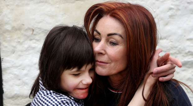 Charlotte Caldwell and her autistic son Billy, who relies on cannabis oil