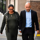Marcio and Andreia Gomes, the parents of victim Logan Gomes arrive for the opening day of the Grenfell Tower fire inquiry